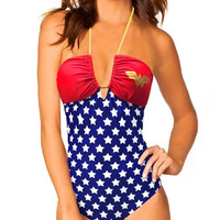 Wonder Woman Bandeau Bathing Suit