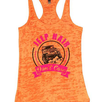 Jeep Hair Don't Care Burnout Tank Top By BurnoutTankTops.com - 1373