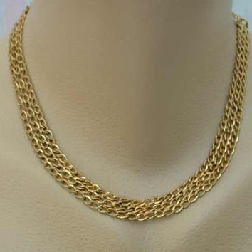 Chain Mesh Choker Necklace Vintage Jewelry