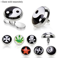316L Surgical Steel Logo Dermal Top