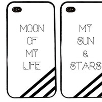 Moon of My Life Case / My Sun and Stars iPhone 4 Case Quote iPhone 5 Case iPhone 4S Case iPhone 5S Case One For Your BFF Set of 2 Combo