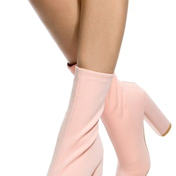 Blush Woven Chunky Ankle Booties @ Cicihot Boots Catalog:women's winter boots,leather thigh high boots,black platform knee high boots,over the knee boots,Go Go boots,cowgirl boots,gladiator boots,womens dress boots,skirt boots.