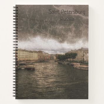 View to Fontanka River. St. Petersburg, Russia. Notebook