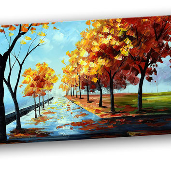 Light the Path Landscape Canvas Wall Art Print