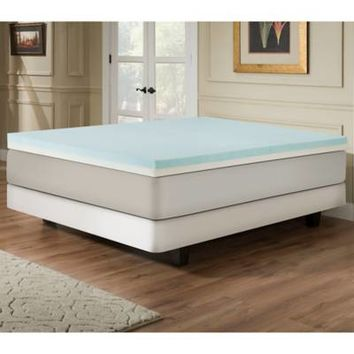 Independent Sleep 4-Inch Memory Foam/High Density Foam with Gel Combination Mattress Topper