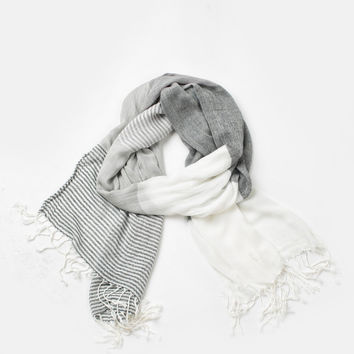 Harper Striped Tassel Scarf