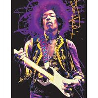 Jimi Hendrix 'Guitar' Blacklight Poster