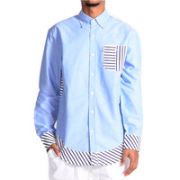 Beta Striped Woven Button Up Shirt
