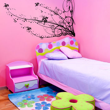 Vinyl Wall Decal Sticker Star Plant Swirl #1104