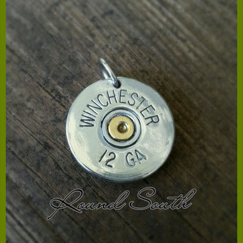 Bullet jewelry bullet necklace silver Winchester 12 gauge shotgun shell charm pendant with/without crystal primer