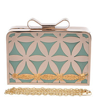 Starburst Floral Clutch with Brass Fixtures