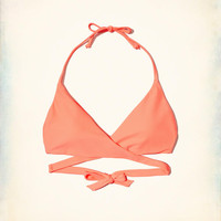 Girls Wrap Triangle Bikini Top | Girls Swimwear | HollisterCo.com