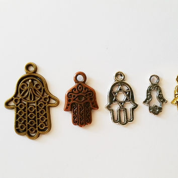 Hamsa Hand/Fatima Hand Assorted Charms for Alex & Ani Inspired Charm Bracelet