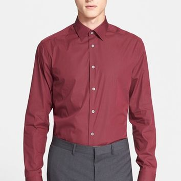 Men's Paul Smith London Trim Fit Micro Gingham Dress Shirt,