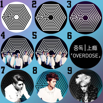 EXO Overdose Bottle Cap Necklace KPOP (18 Styles)