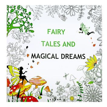 Fairy Tales and Magical dreams Coloring Book Painting Mandalas Secret Garden Color Drawing Alice in Wonderland 25*25cm 24pages