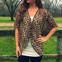 Sheer Leopard Cardigan