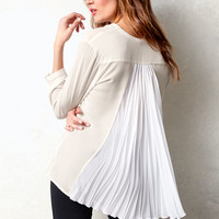 Pleated-back Blouse
