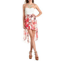Lace Bust Sweetheart Tube Dress: Charlotte Russe