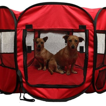 Dog Portable Pet Playpen Allows pets to play in a safe and contained environment
