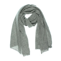 Magaschoni Womens Cashmere Ribbed Rectangle Scarf