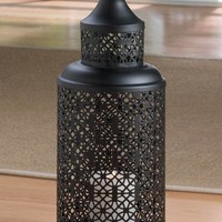 Black Iron Morocco Tower Candle Lanterns In 3 Sizes