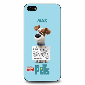 The Secret Life Of Pets Max Poster iPhone 5/5s/SE Case