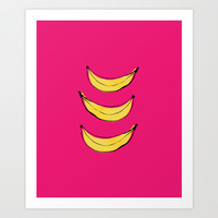 Banana's Art Print by Allyson Johnson