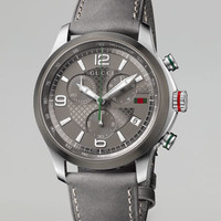 Gucci G-Timeless Chronograph Watch, Gray