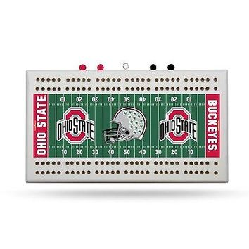 Ohio State Buckeyes Football 2-Track Cribbage Board FREE US SHIPPING
