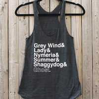 Game of Thrones // Direwolves of Winterfell // Ladies Racerback Tank Top
