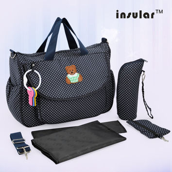 Shipping Free Hot Sale  Fashion Baby Diaper Bag Nappy Bag For Mommy And Baby Bag Changing Bag