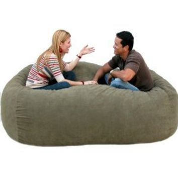 7-feet Xx-large Olive Cozy Sac Foof Bean Bag Chair Love Seat