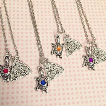 Ninja Turtles Best Friends Inspired Necklaces WITHOUT INITIALS - Best Friends Jewelry - Fandom Jewelry - Turtles In A Half Shell - TMNT Jewe