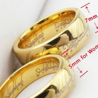 The Lord of the Rings 18K gold plated Ring For Women With Stainless Steel Necklace = 1946168836