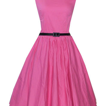 Candy-Colored Sleeveless Belted Sheath Tent Mini Dress
