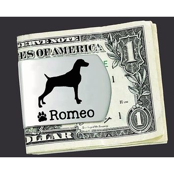 Weimaraner Personalized Money Clip