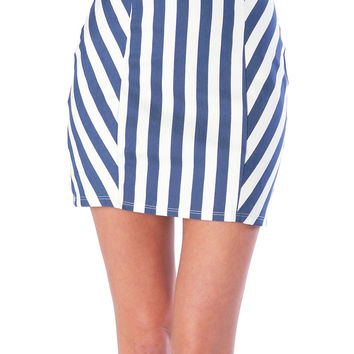Lines Up Twill Mini Skirt