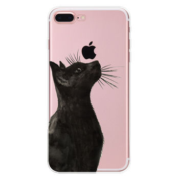 What are you looking at? Cat Case for iPhone 7 7Plus & iPhone se 5s 6 6 Plus High Quality Cover +Gift Box-90
