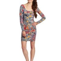 Volcom Juniors Walk It Out Long Sleeve Dress