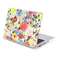 MacBook Pro 13 Case, GMYLE Hard Case Print Frosted for MacBook Pro 13 inch (Model : A1278) - Blossom Floral Pattern Rubber Coated Hard Shell Case Cover