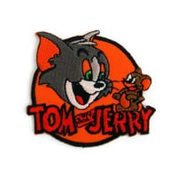 Tom and Jerry Cat Mouse Cartoon Applique Embroidered Iron on Patch