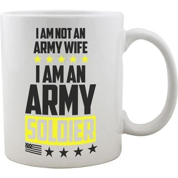 Woman Army Soldier Mug