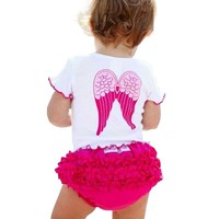 Angel Wings Girl Clothes Suit Set Princess Enfant Children Summer Wear
