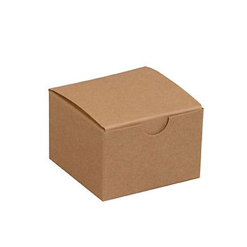 3 x 3 x 2 - Small Natural Kraft Favor or Gift Boxes - Set of 10 - Party and Wedding Favor Container