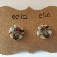 Handmade Plastic Fandom Earrings - Comic Pinup - Lois Lane