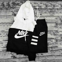 NIKE Men Women Pantsuit hooded fashion suit pullover Two piece