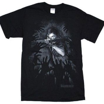 WALKING DEAD DARYL DIXON HANDS - BLACK Adult T-Shirt S-2XL