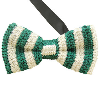 Green Knit Bow Tie