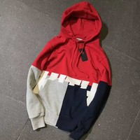 Kith Print Loose hoodies Sweater Red I-A-XYCL